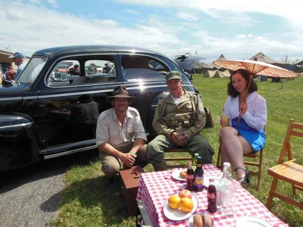 Wayne Rosenkrans, Randy Wolf (Indiana Jones) and Lisa Rosenkrans (as pulp heroine Peggy Carter)