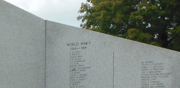 World War I memorials in Mt. Airy, NC. (Anthony C. Hayes)