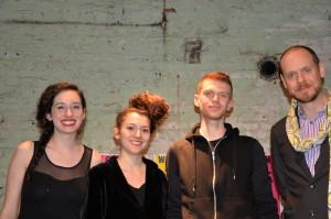 Jolie Kumin, A. Gray Lamb, Tyler Farnholt and seminar instructor Jeffry Cudlin