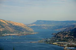 Columbia Gorge with Hood City on the right. (All photos by Bill Hughes)