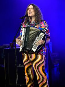 "Recording artist ""Weird Al"" Yankovic performs in support of ""The Mandatory World Tour"" at Planet Hollywood Resort and Casino on May 12, 2015 in Las Vegas, Nevada."