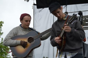 Ampersand Stringband opened up this weekend's Charm City Folk and Bluegrass Festival.(Photos by Chris Swanson)