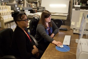 Interns Angela Koukoui and Jennifer Montooth. (courtesy Maryland Historical Society)