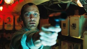 Jude Law leaves no doubt who's running the submarine in Black Sea. (Focus Features)