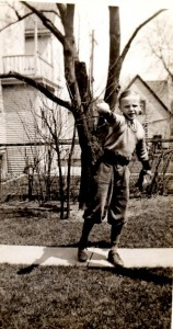 Dad playing ball on April 25, 1936.