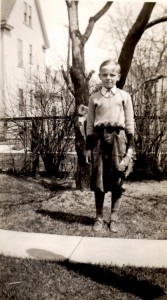 Dad getting ready to play ball on April 25, 1936.