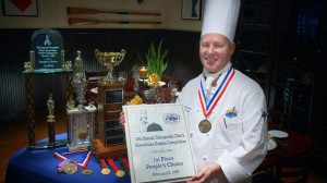 Executive Chef Charles McKnew proudly serving and representing us -30 years and counting, (Courtesy)
