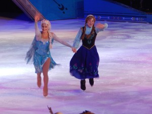 It wouldn't be a Disney on Ice show without Frozen's Elsa and Anna. (Jon Gallo)