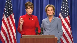 Tina Fey and Amy Poehler as Sarah Palin and Hillary Clinton (NBC)