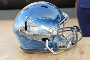 Navy debuted seven different helmets - each on hand painted - that were worn by the Midshipmen against Army.