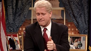 Darrell Hammond as his trademark lit-biting, thumbs-upping Bill Clinton (NBC)