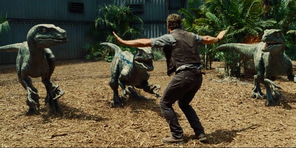 Owen Grady (Chris Pratt) trains Velociraptors like they are man's best friend in Jurassic World. (Universal Pictures)