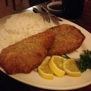 Beef katsu is satisfyingly crispy, without a trace of oiliness (Lauren Molander)