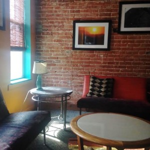 Koba's peaceful upstairs seating area (Lauren Molander)