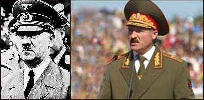 Lukashenko and Hitler in uniform. (screenshot)