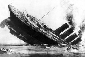 The sinking of the RMS Lusitania helped to draw the US into World War I.