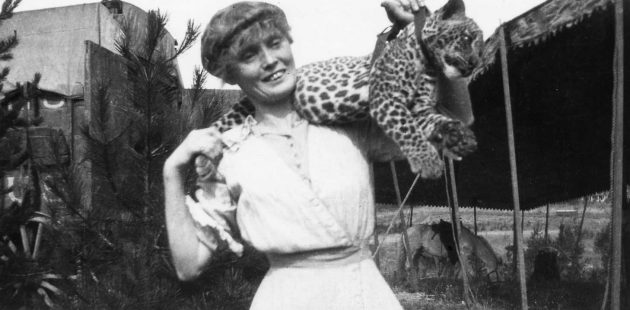 Mabel Stark with a leopard. Mabel, Mabel, Tiger Trainer tells the story of Starks amazing career.