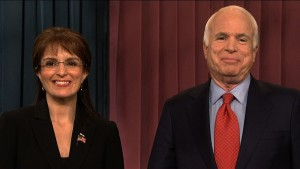 McCain and Palin (Fey), in a 2008 sketch in which the two sell McCain-themed items on QVC to fund their campaign (NBC)