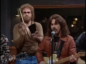 "Will Ferrell and Chris Parnell, in the ever-quoted ""More Cowbell"" sketch (2000)"