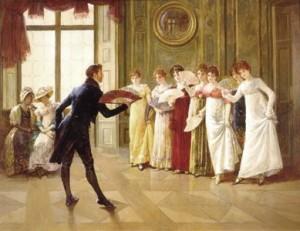 Proper etiquette at a Regency-era ball.