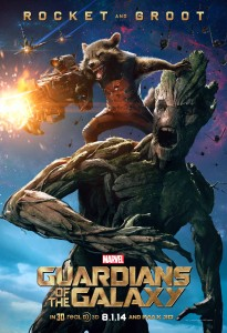 """A roaccoon named Rocket and an arboreal alient named Groot are CGI creatures  who certainly come to live in """"Guardians of the Galaxy."""" (Courtesy of Marvel)"""