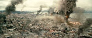 The computer-generated imagery of the earthquakes that rock Los Angeles and San Francisco in San Andreas are some of the best special effects you've seen in quite some time. (Warner Bros.)