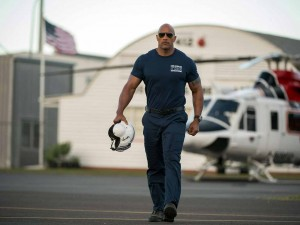 Have no fear! The Rock is here to save the day in San Andreas! (Warner Bros.)