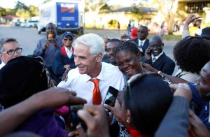 Crist campaigned in South Florida assiduously, but Democrats didn't get the turnout they hoped for (Campaign courtesy).