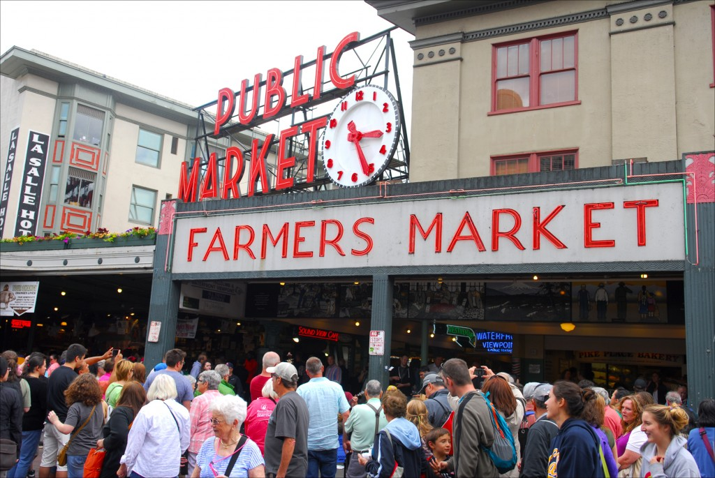 Seattle's famous Pike Street Market, a favorite among tourists to the Pacific Northwest's busiest city. (Larry Luxner)