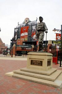 The Babe outside of Orioles Park.