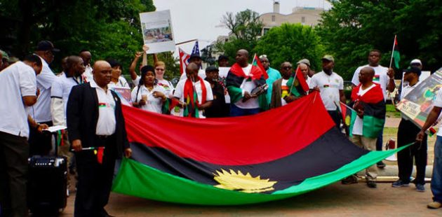 Activists at white house rally justice for biafra baltimore post activists for justice for biafra held a rally tuesday in front of the white house seeking president donald trumps help with respect to the cause of human thecheapjerseys Images