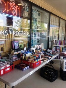 A store-front sale at Second Edition Books & Music (Lauren Molander)