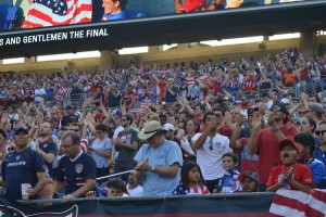 The U.S.'s 6-0 win certainly made the pro-U.S. crowd happy on Saturday. (Costa Swanson)
