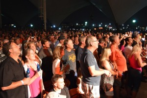Fans packed Pier Six Pavilion to see Greg Allman and The Doobie Brothers on Wednesday night.