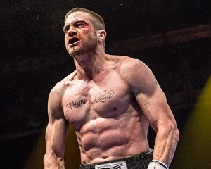 Jake Gyllenhaal certainly hit the gym to portray boxing champion Billy Hope in Southpaw. (TWC)