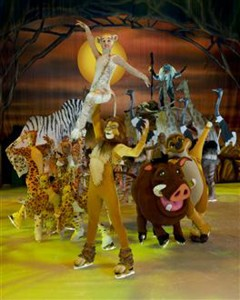 The Lion King is certainly represented in Disney on Ice: Treasure Trove. (All photos courtesy of Feld Entertainment)