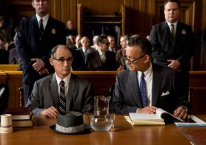 Tom Hanks and Mark Rylance portray lawyer James Dunscan and convicted Soviet Spy Rudolph Abel very well in Bridge of Spies, which should be nominated for the Oscar for Best Picture. (DreamWorks)