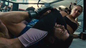 Turtle risks life and limb to date UFC champion Ronda Rousey in Entourage. (Warner Bros.)
