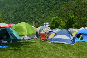 Fans turned the Allegany County Fairgrounds into Tent City during DelFest.