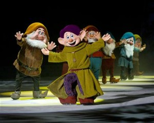 Catch Dopey and his dwarf buddies at Disney on Ice: Treasure Trove at Royal Farms Arena.